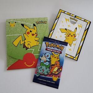 2021 McDonalds Pokeman Cards Happy Meal Box